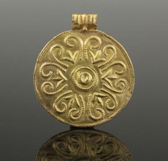 Anglo Saxon Gold Pendant