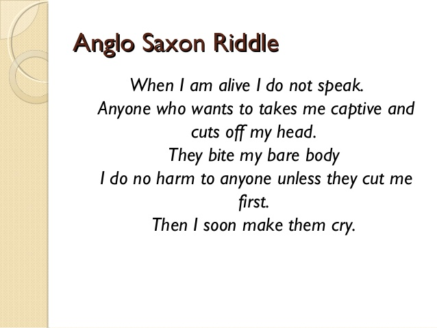 Anglo-Saxon Riddle Onion