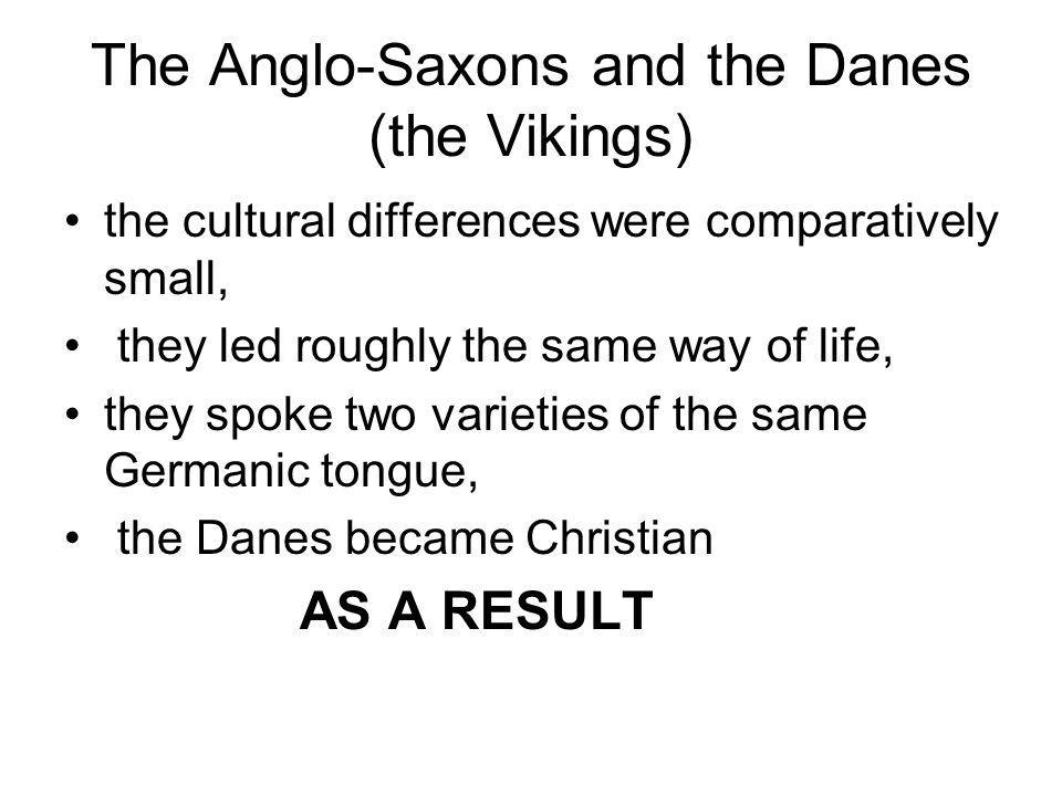 Anglo-Saxons and Vikings Difference