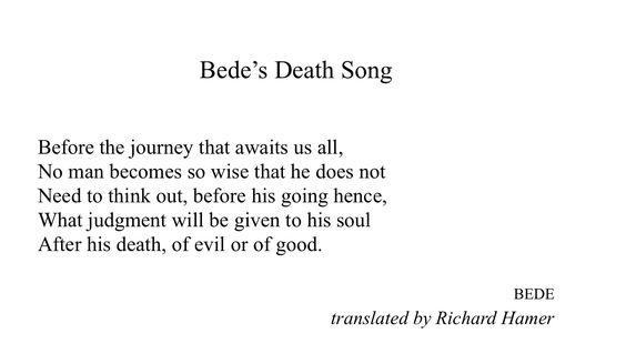 Bede's Death Song