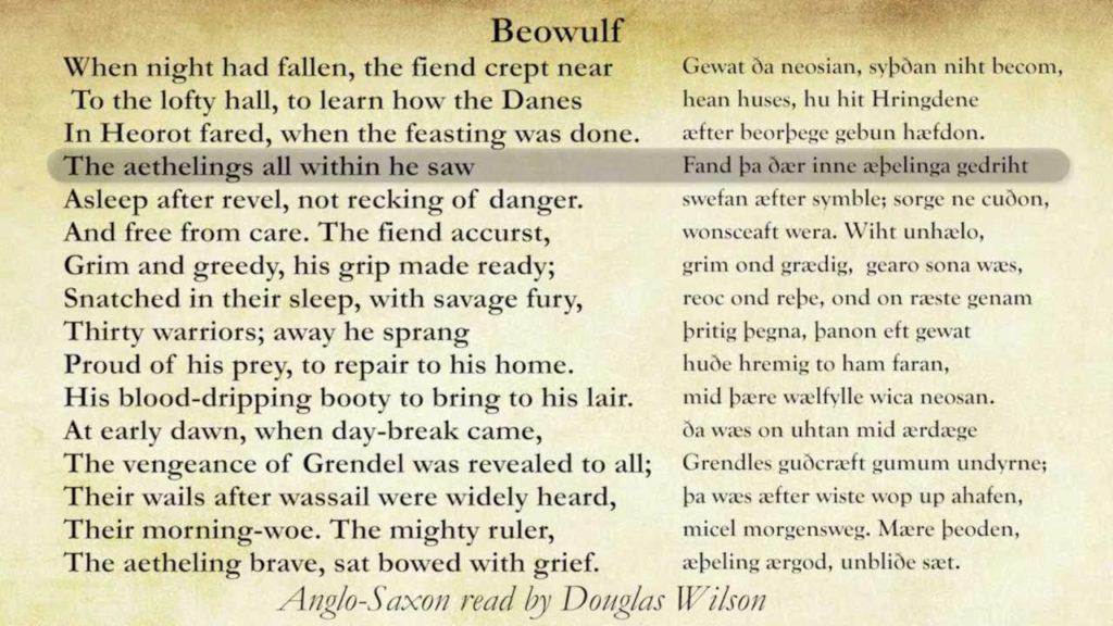 Beowulf-Douglas Wilson Narration