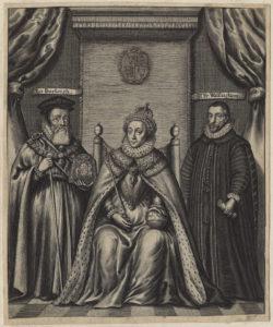 Queen Elizabeth I; Sir Francis Walsingham; William Cecil, 1st Baron Burghley