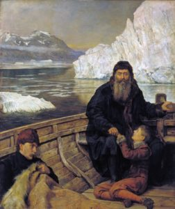 Henry Hudson with his son