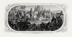 Girsch's engraving of DeSoto Discovering the Mississippi