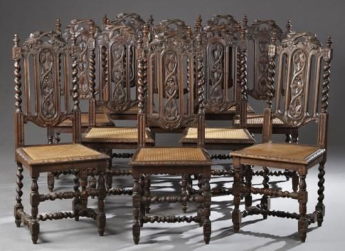 Jacobean Carved Chairs