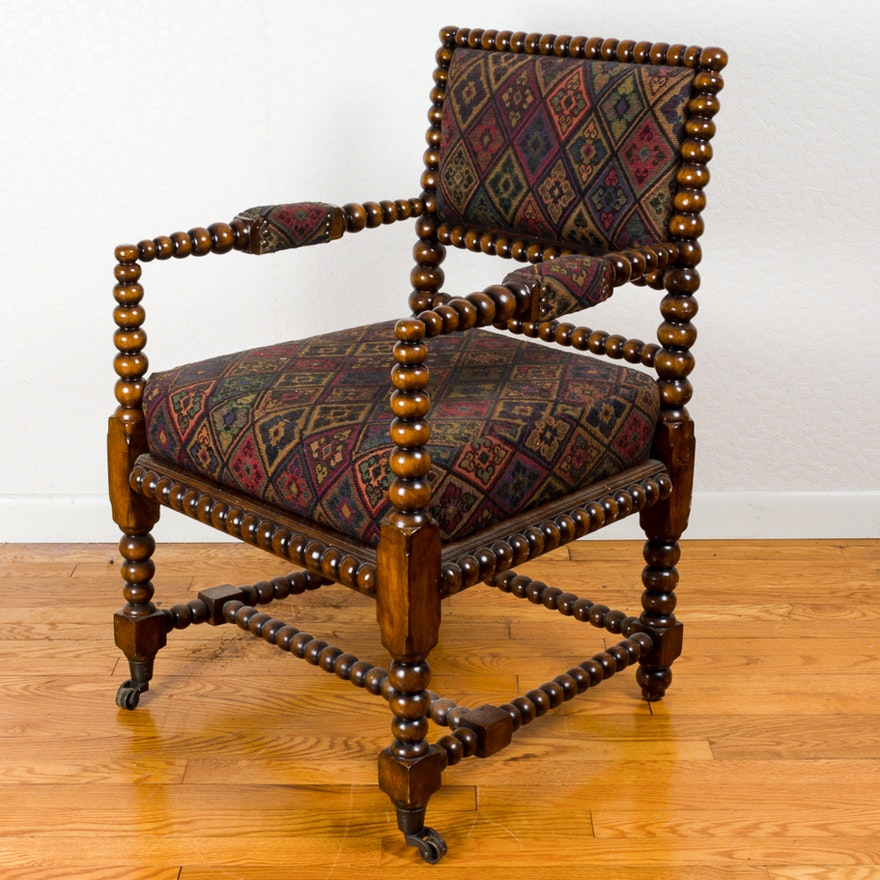 Jacobean upholstered chair