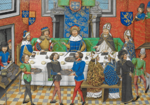 John of Gaunt, Duke of Lancaster dining with the King of Portugal
