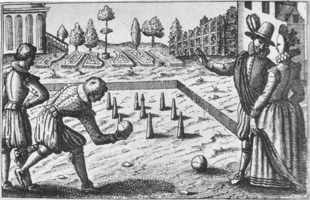 Lawn bowling in Tudor era