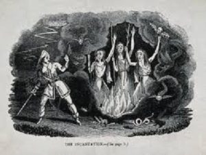 Macbeth Meets the three Witches