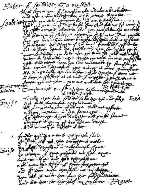 Marlowe's writing