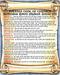Pirates Code of Conduct
