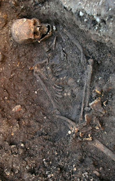 Remains of King Richard III at Grey Friars