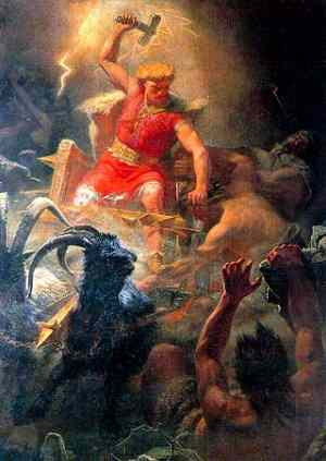 Thuron- God of Thunder, Thursday's God