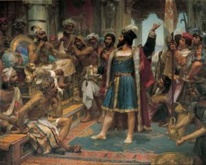 Vasco da Gama perante O Samorim De Calecute