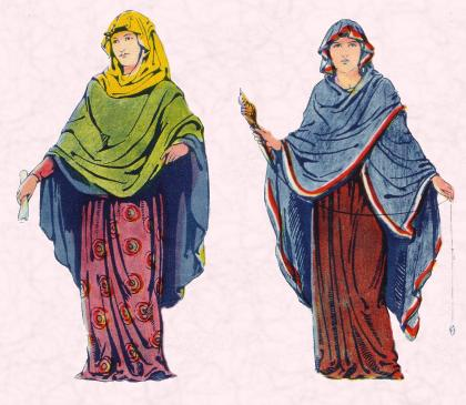 Lady/ Girl Clothes in Anglo Saxon Era