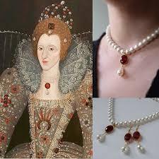 Queen Elizabeth I wearing precious jewels