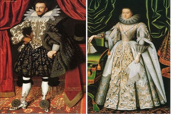 Elizabethan clothing of men and women