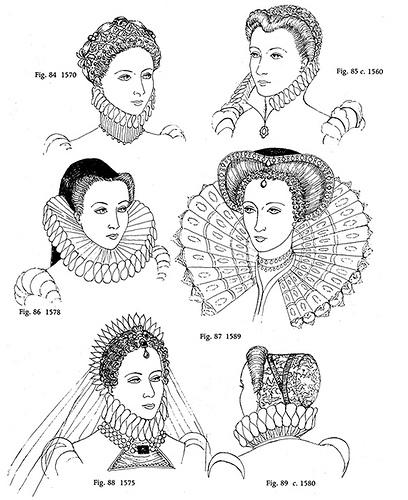 Elizabethan Era Hairstyles -