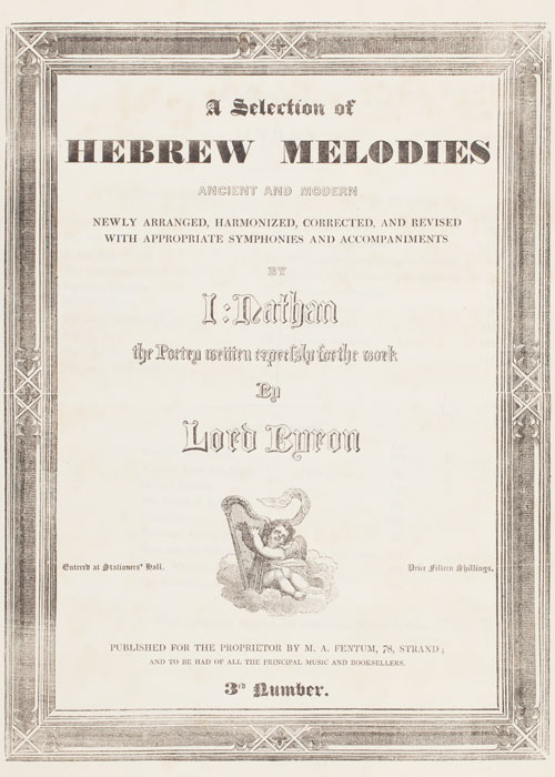 Hebrew Melodies Cover by Isaac Nathan