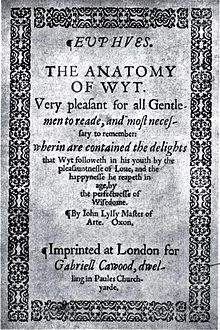 The Anatomy of Wit by John Lyly