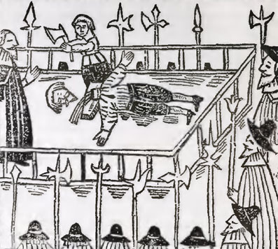 Beheading during tudor times